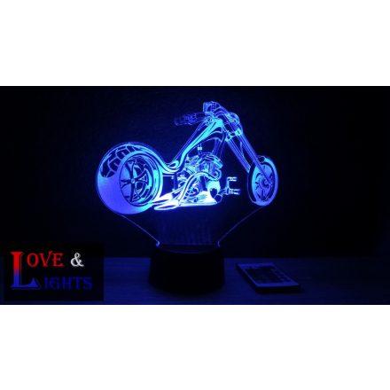 Chopper motor  mintás illúzió lámpa