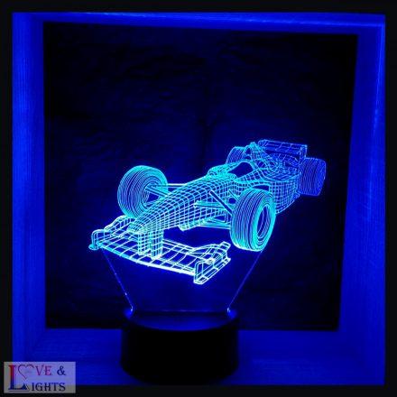 Forma-1 autó mintás illúzió lámpa