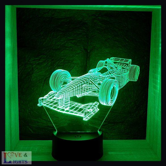 Forma-1 autó mintás illúzió lámpa - előrendelhető