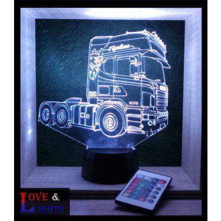 Kamion mintás illúzió lámpa