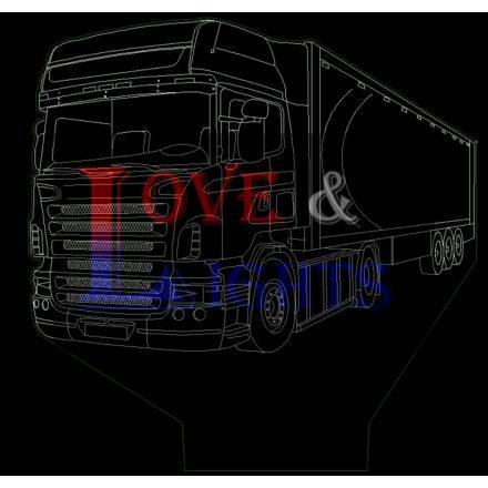 Kamion rakománnyal mintás illúzió lámpa -előrendelhető