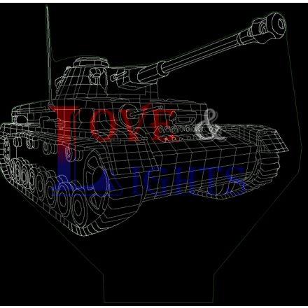 Tank mintás illúzió lámpa - előrendelhető