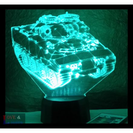 Tank 2 mintás illúzió lámpa
