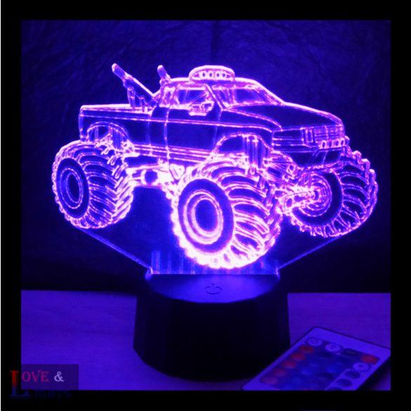 Monster track - Monster autó mintás illúzió lámpa