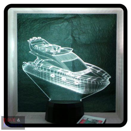 Yacht mintás illúzió lámpa