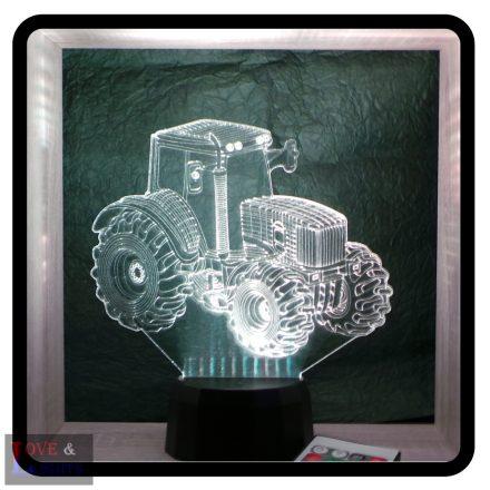 Mezőgazdasági traktor mintás 3D illúzió lámpa