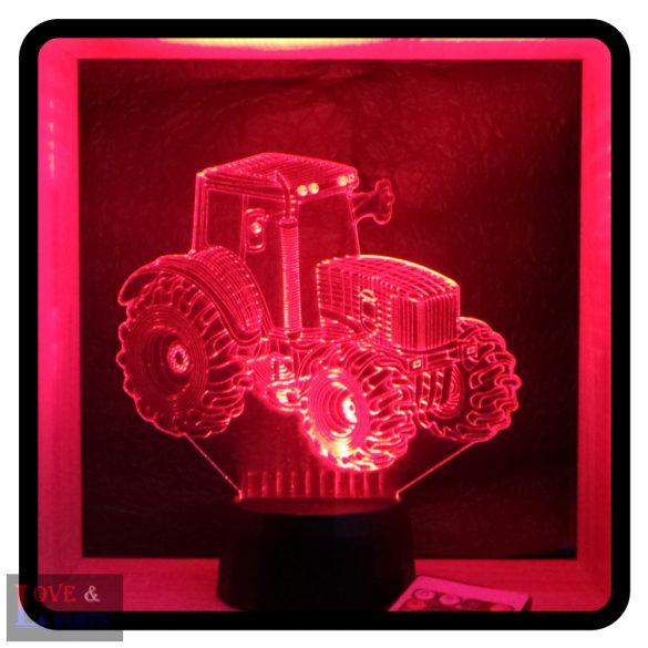 Mezőgazdasági traktor mintás 3D illúzió lámpa - előrendelhető