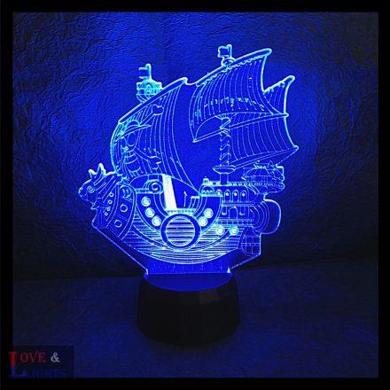 Kalózhajó mintás illúzió lámpa