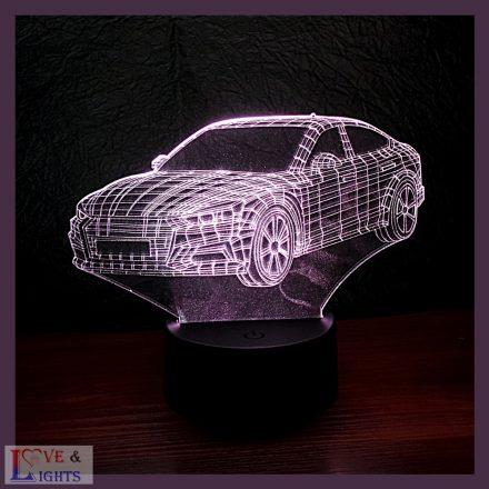 Autó mintás illúzió lámpa
