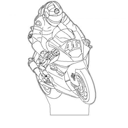 Verseny motoros mintás illúzió lámpa - előrendelhető