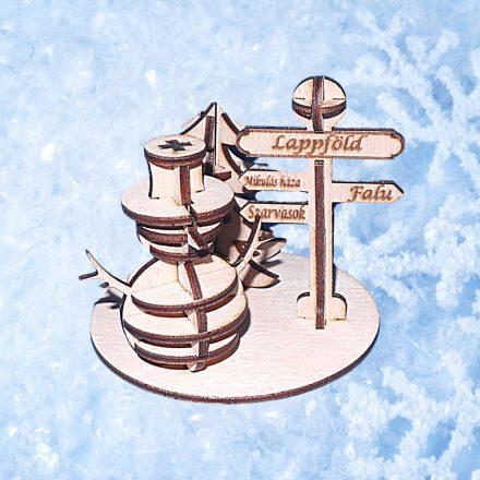 """Északi sark, hóemberrel - """"Csináld magad"""" - 3D puzzle"""