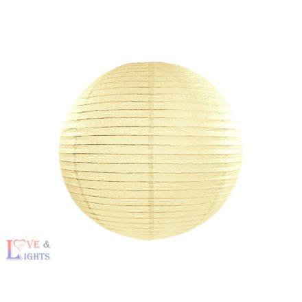 Krém színű papír lampion 20 cm