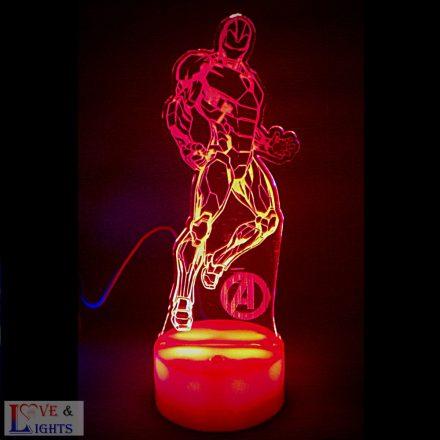 Bosszúállók -Vasember mintás LED lámpa