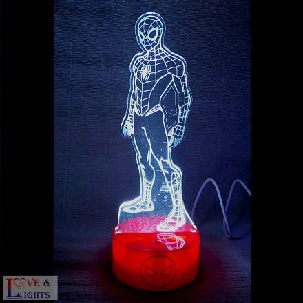 Pókember mintás LED lámpa