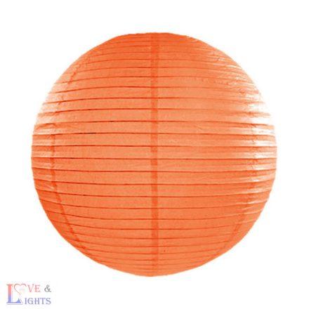 Narancssárga papír lampion 35 cm
