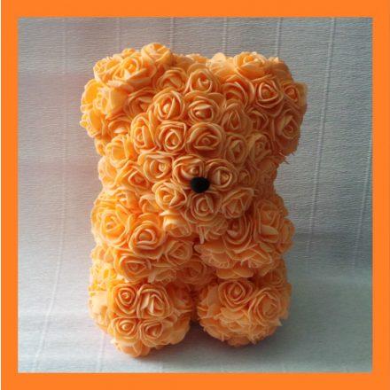 Narancssárga rózsa maci - 25cm