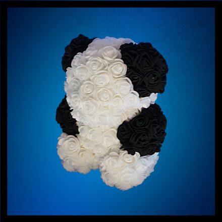 Panda rózsa maci - 25 cm