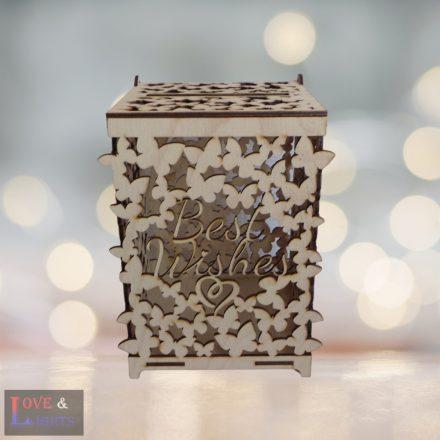 Pénzgyűjtő pillangós dobozka
