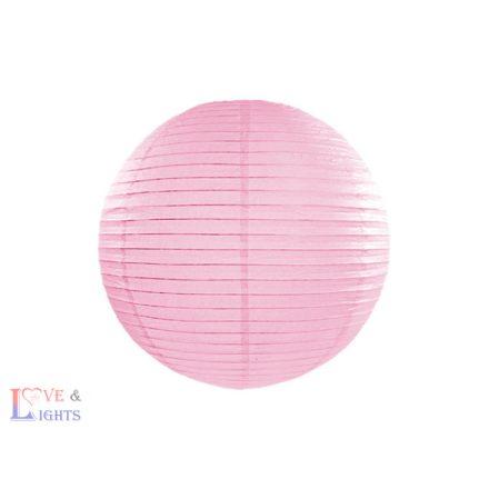 Rózsaszín papír lampion 25 cm
