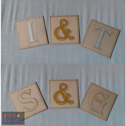 Scrabble fa betűk - egyedi fali dekoráció - 10*10 cm