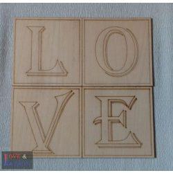 Scrabble fa betűk - egyedi fali dekoráció - 14*14 cm