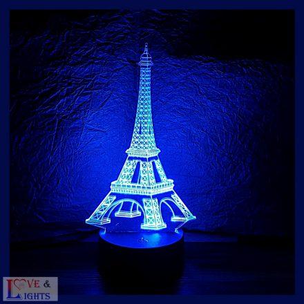 Eiffel torony mintás 3D illúzió lámpa
