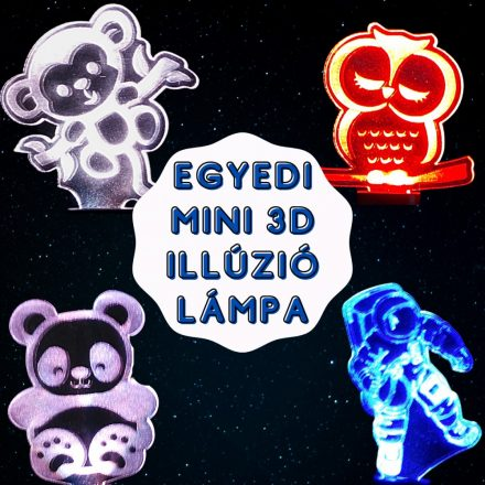 !Egyedi mintás mini 3D illúzió lámpa