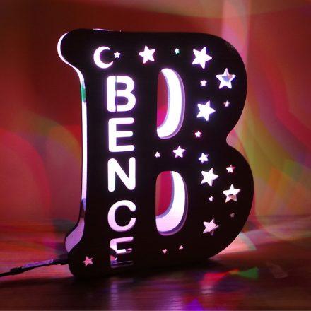 LED-es monogram névre szólóan