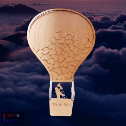 Hőlégballon alakú vendégkönyv