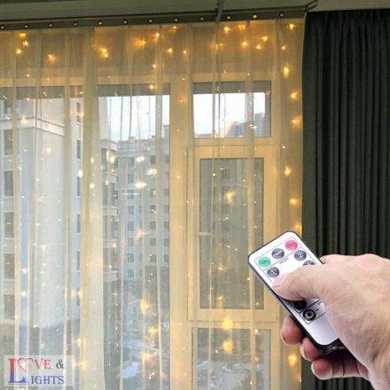 LED-es háttérfüggöny 3x3 m - meleg fehér