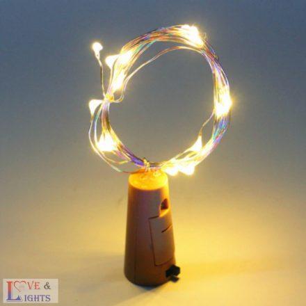 LED-es borosüveg világítás - meleg fehér- 2m