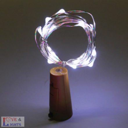 LED-es borosüveg világítás - fehér fényű- 2m