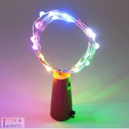 LED-es borosüveg világítás - színes fényű- 2m