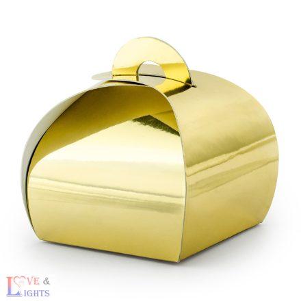 Ajándéktartó doboz - arany