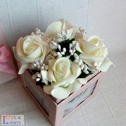 Fotódoboz rózsával