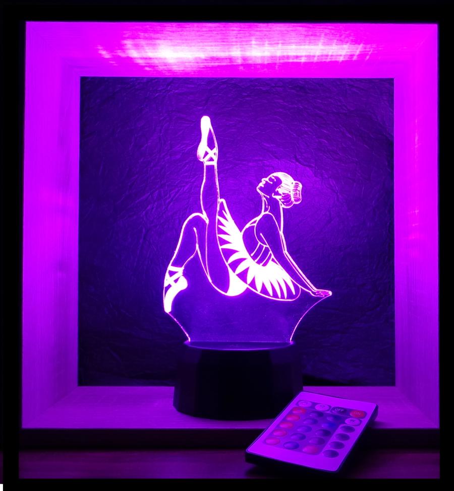 táncoslány mintás 3d illúzió lámpa love and lights