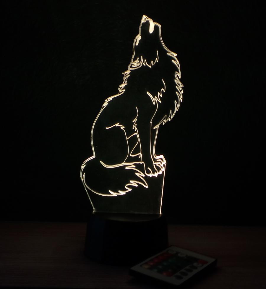 Farkas mintás illúzió lámpa Love and Lights