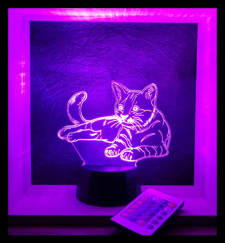 Cica. macska mintás lámpa love and lights