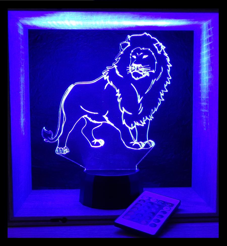 Oroszlán mintás lámpa Love and Lights egyedi ajándékok boltja