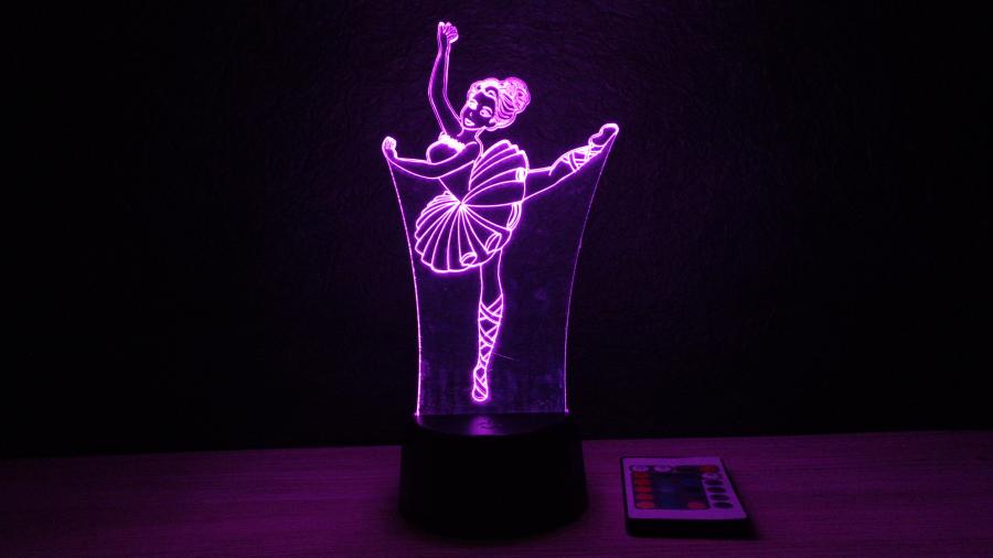 Balerina minás lámpa- egyedi ajándék- 3d illúzió lámpa- love and lights