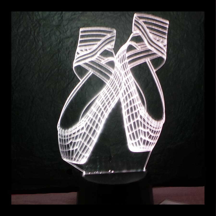 Balettcipo mintás 3d illúzió lámpa - egyedi ajándék - love and lights