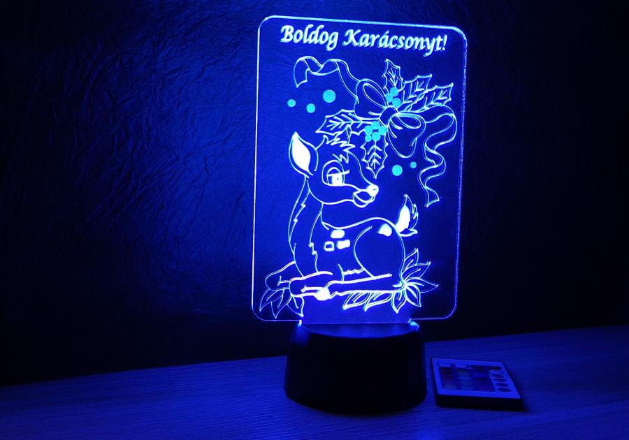 Szarvas mintás karácsonyi lámpa egyedi ajándékok love and lights