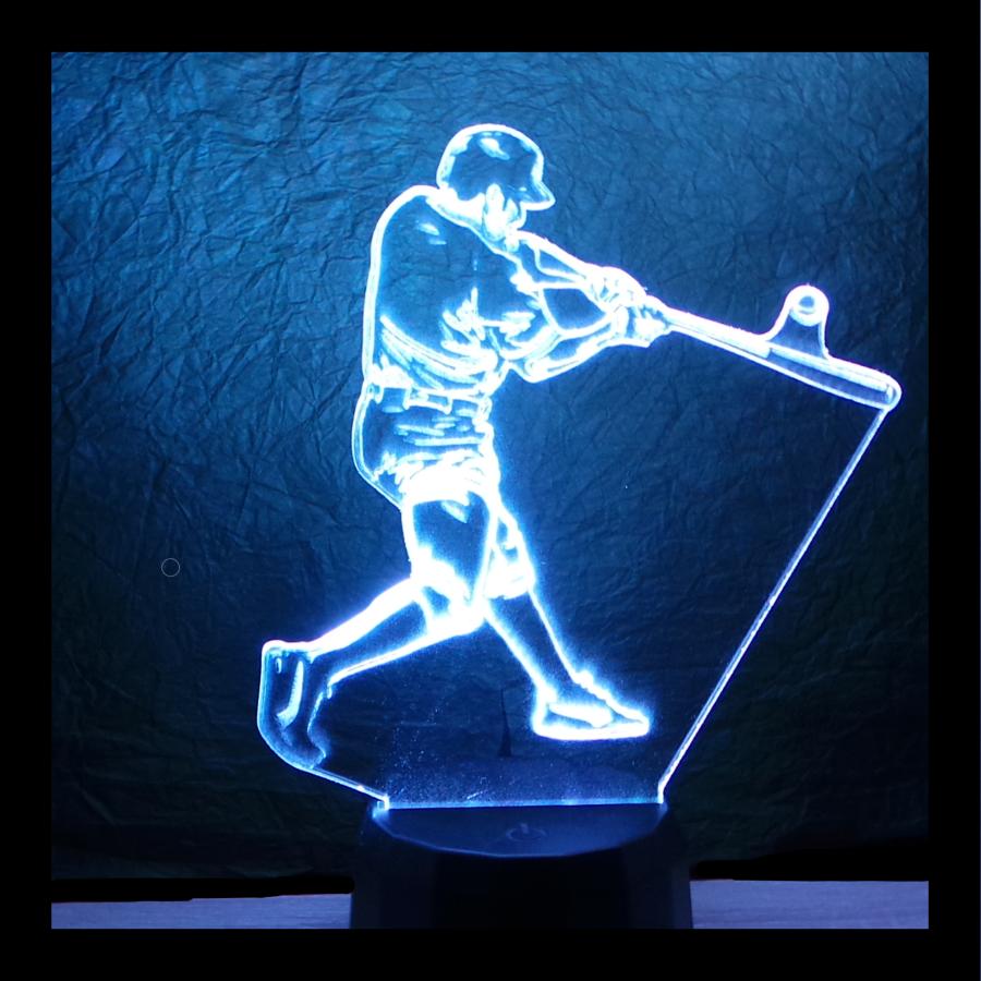 baseball játkos mintás 3d illúzió lámpa - egyedi ajándékok boltja - love and lights