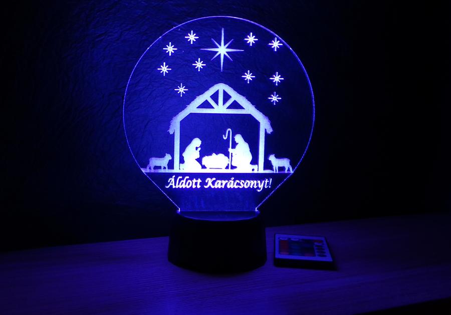 Betlehem mintás karácsonyi lámpa