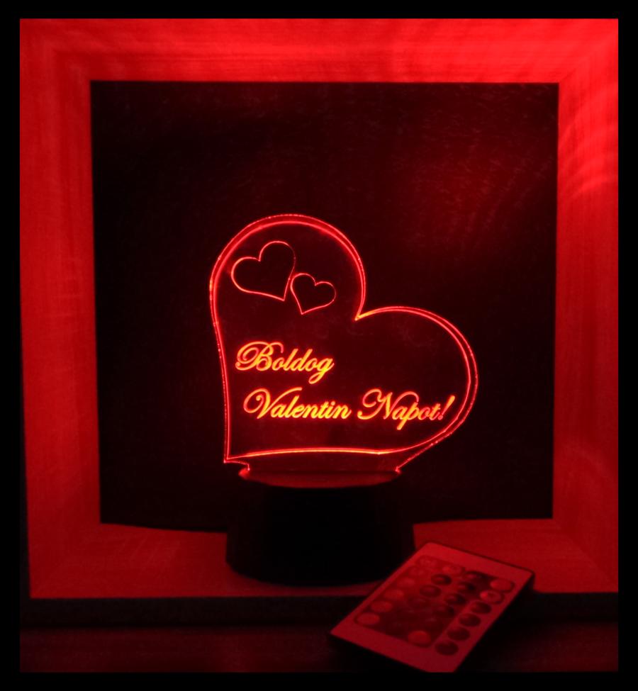 szívecskés illúzió lámpa love and lights