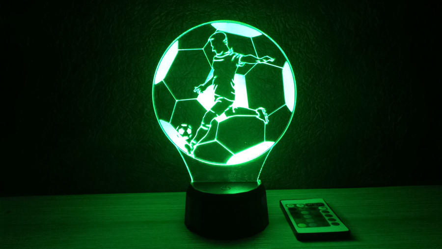 Focista mintás 3D illúziós lámpa egyedi felirattal, különleges ajándék fiúknak, férfiaknak, apáknak