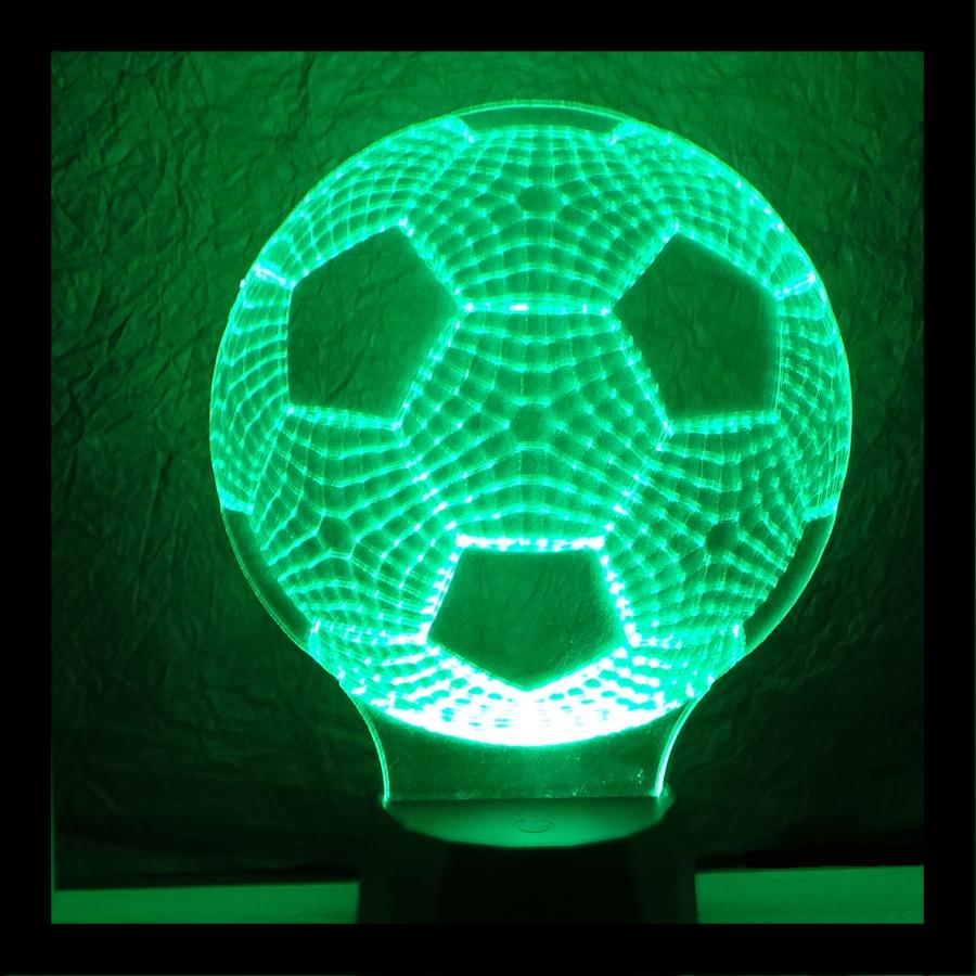 Focilabda futball labda mintás 3d illúzió lámpa - egyedi ajándékok boltja - love and lights