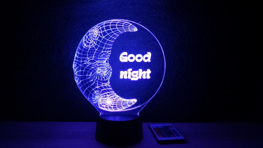 holdacskás éjjeli lámpa egyedi felirattal