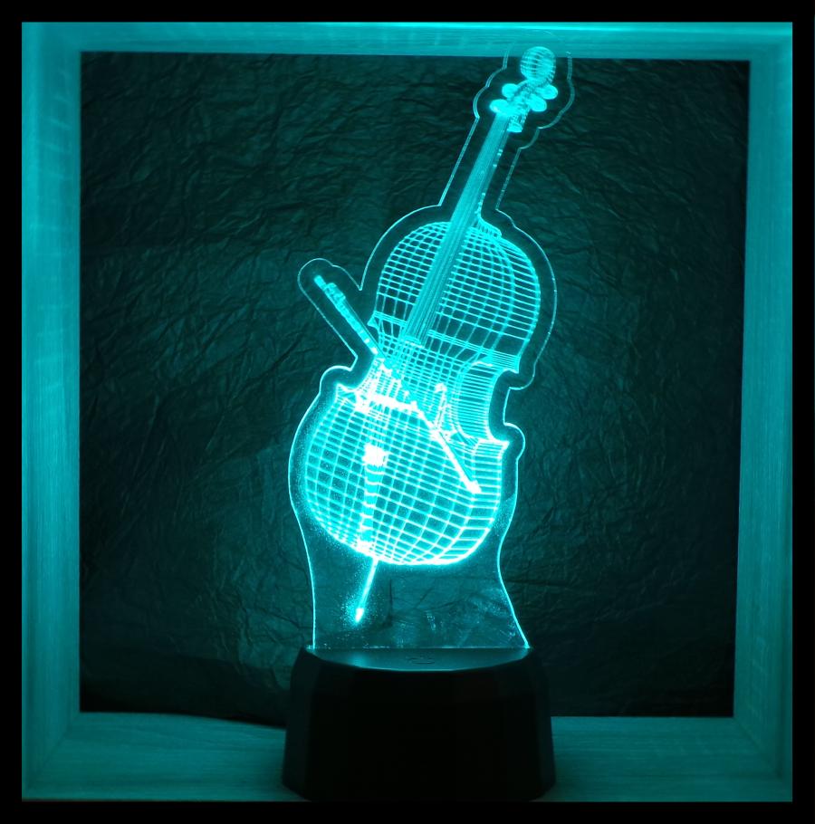 csello mintás 3d illúzió lámpa love and lights