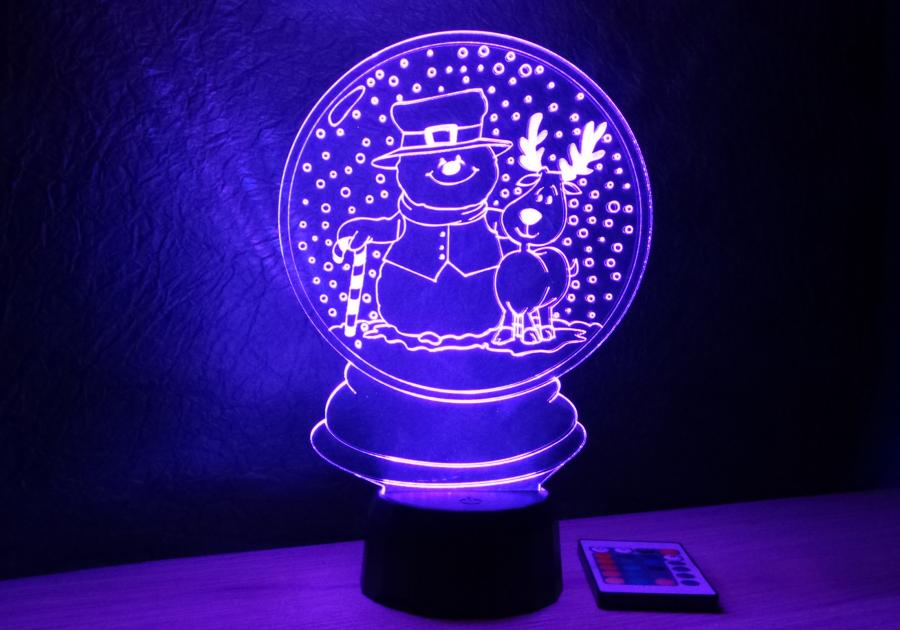 hógömb mintás karácsonyi lámpa egyedi ajándék love and lights